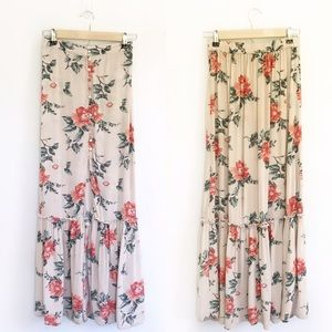 American Eagle - Button Front Floral Maxi Skirt